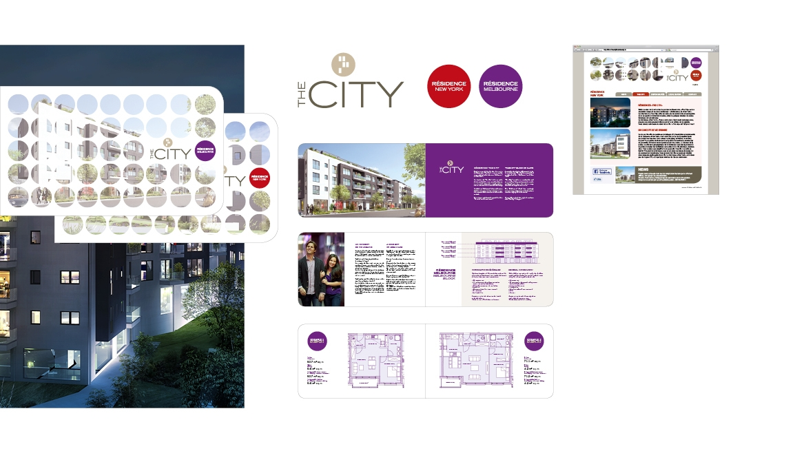 THE CITY LOGO, BROCHURE